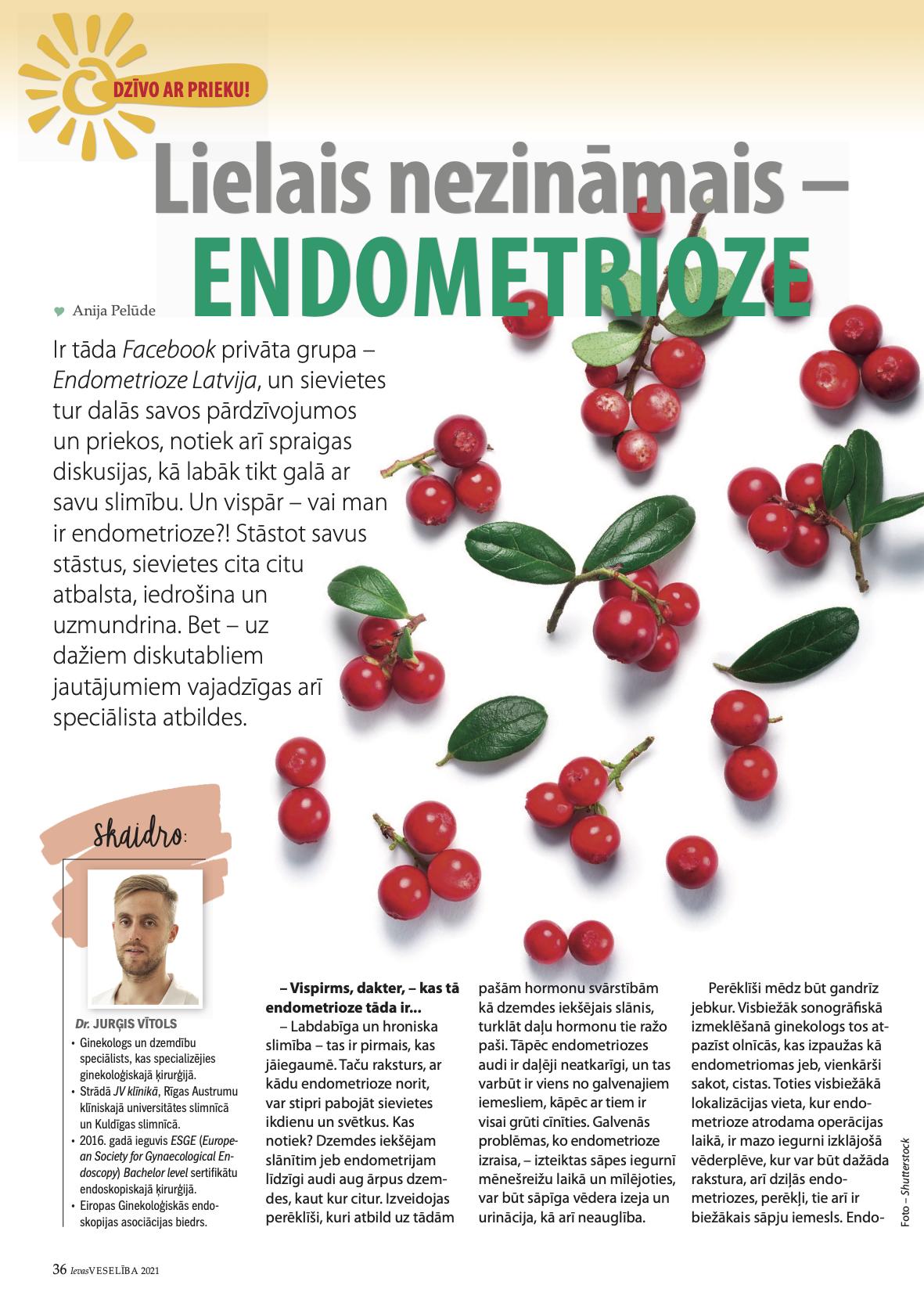 Endometrioze Ievas Veselība